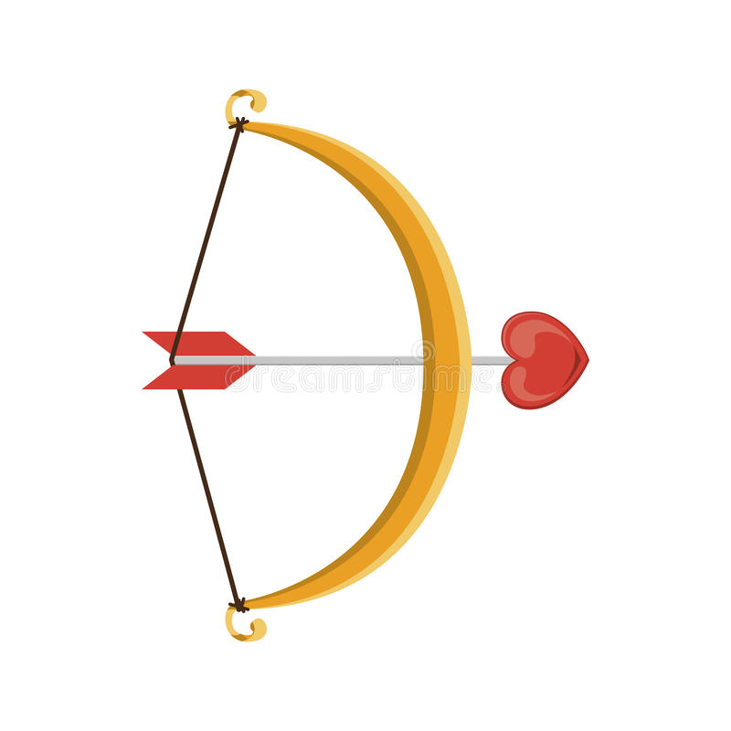 Archer broń z kierowym symbolem ilustracja wektor