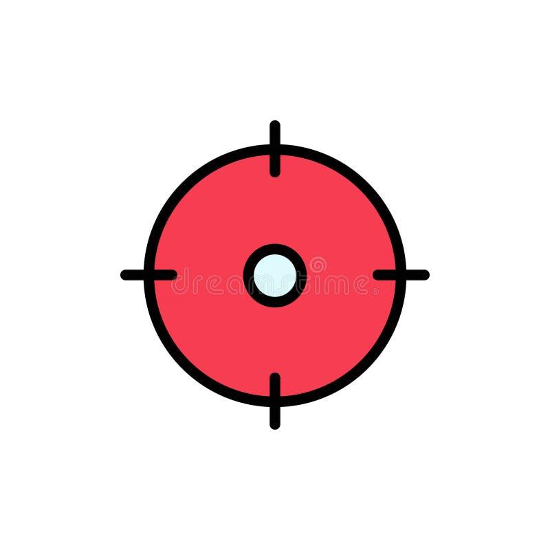 Archer, cel, cel, celu koloru Płaska ikona Wektorowy ikona sztandaru szablon ilustracji