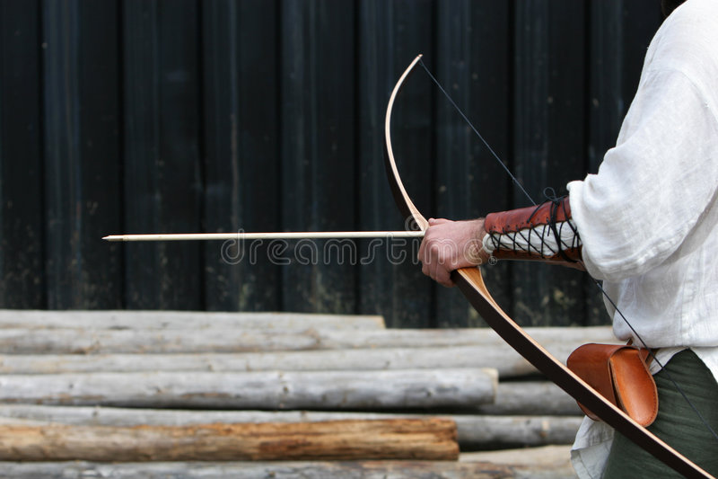 Archer che ottiene pronto immagine stock libera da diritti