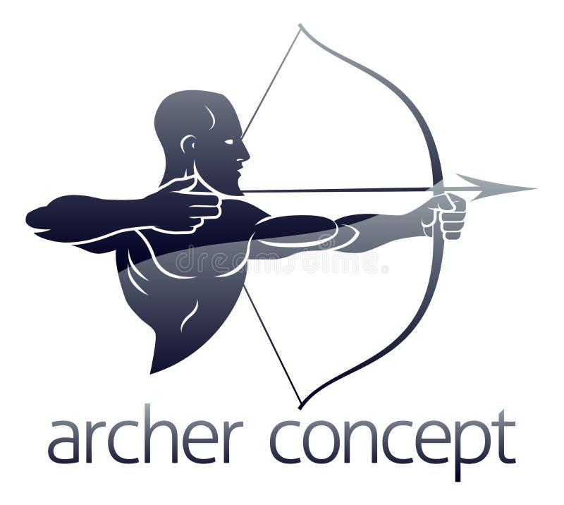 Archer Concept illustrazione di stock