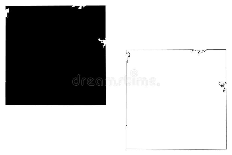 Archer County, vetor do mapa de Texas ilustração do vetor