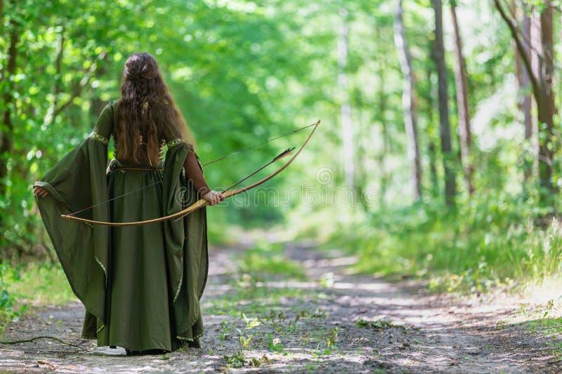 Archer d'Elf par derrière photo libre de droits
