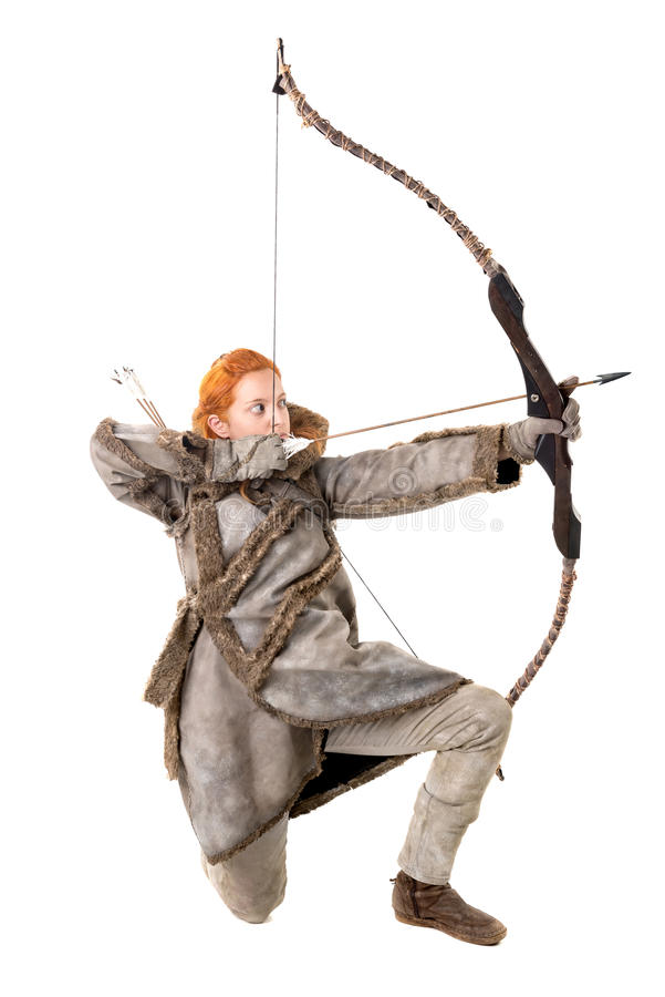 Archer de fille photographie stock