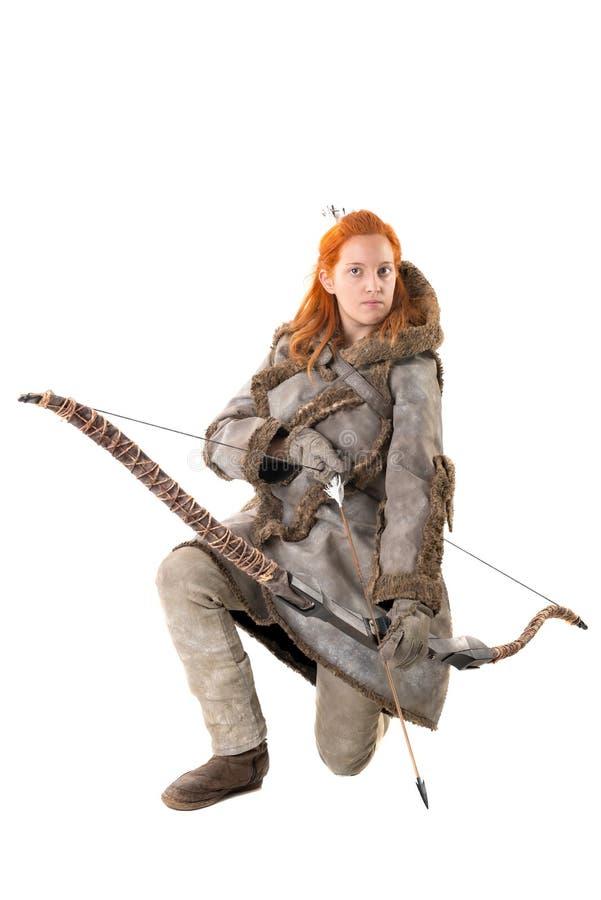 Archer de fille image libre de droits