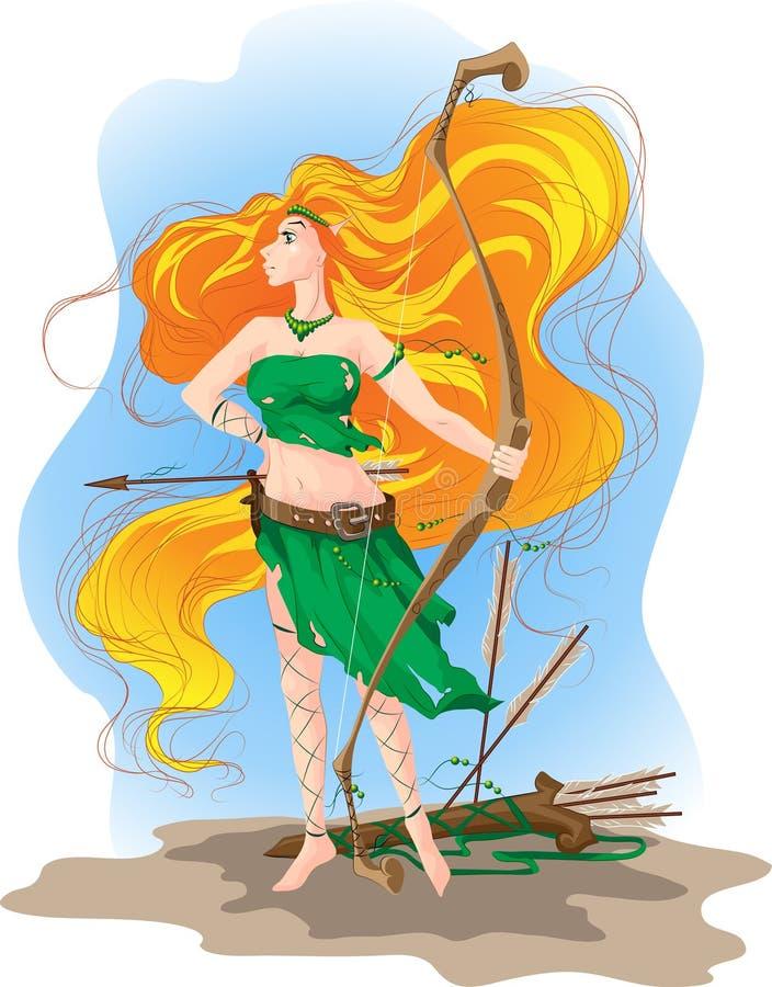Archer dell'elfo royalty illustrazione gratis