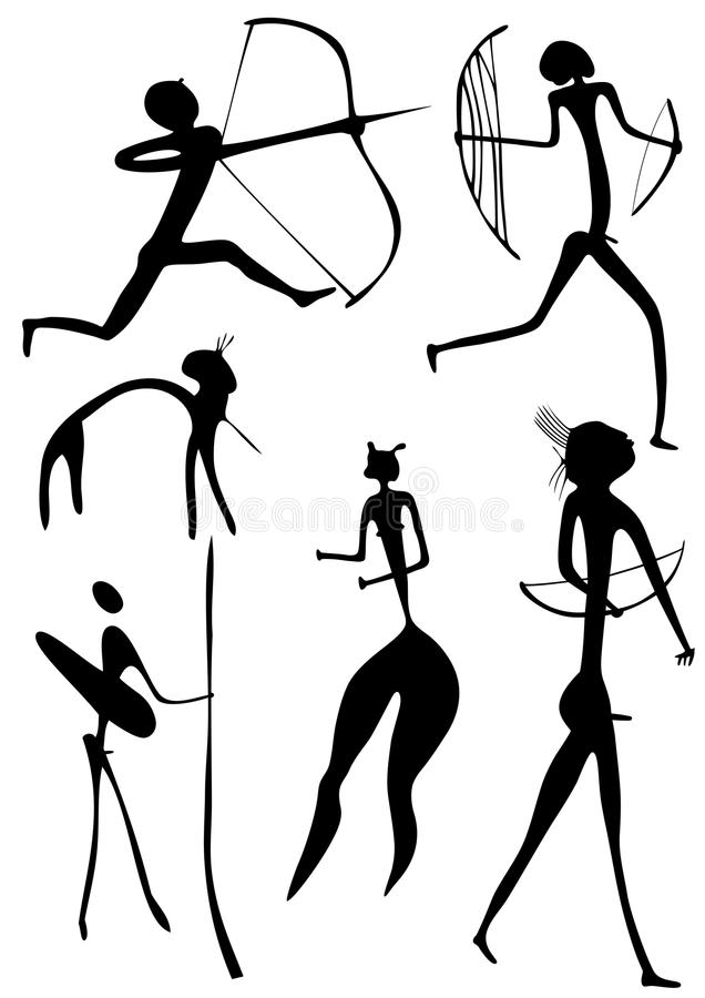 Archer e outras figuras - vetor ilustração royalty free