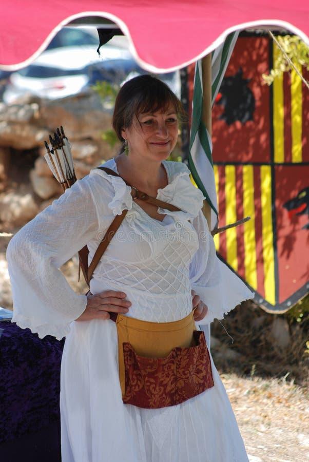 Archer-Frau stockfotos