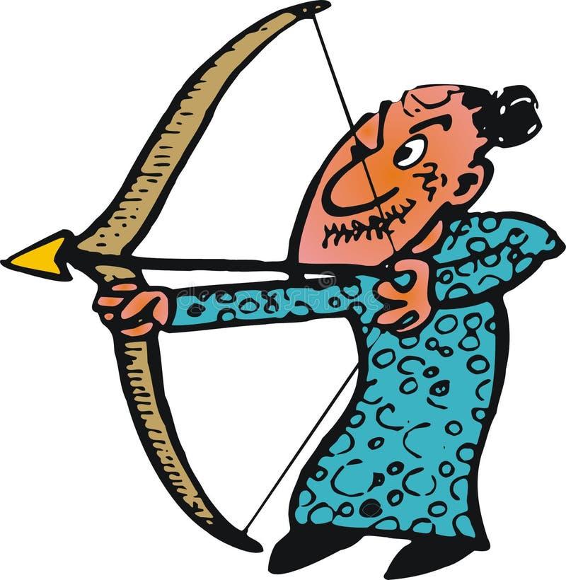 Archer idoso ilustração do vetor