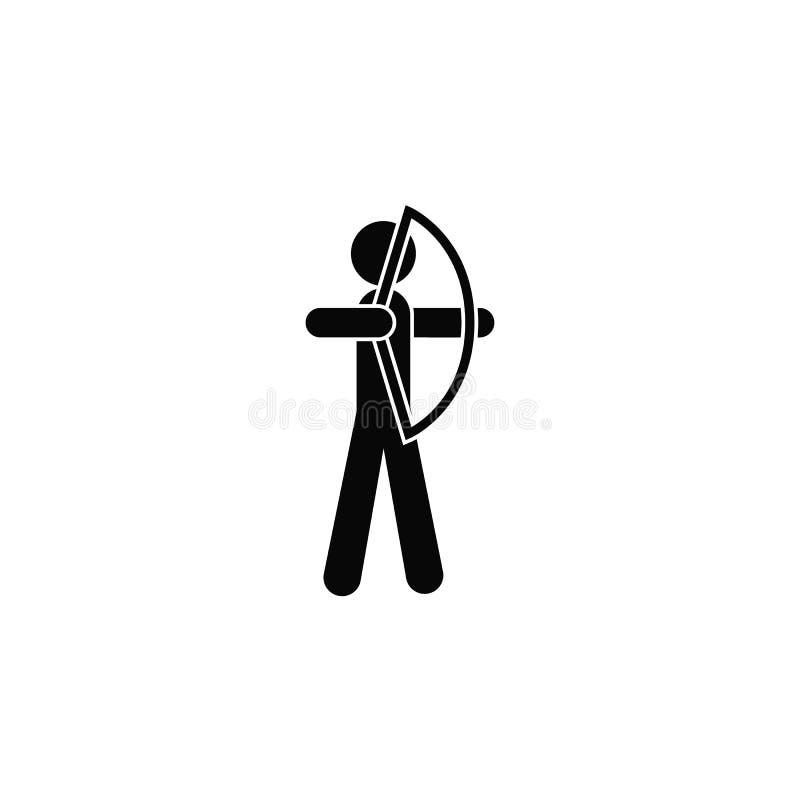 Archer, ikona Element prosta ikona dla stron internetowych, sieć projekt, mobilny app, infographics Gęsta kreskowa ikona dla stro ilustracja wektor