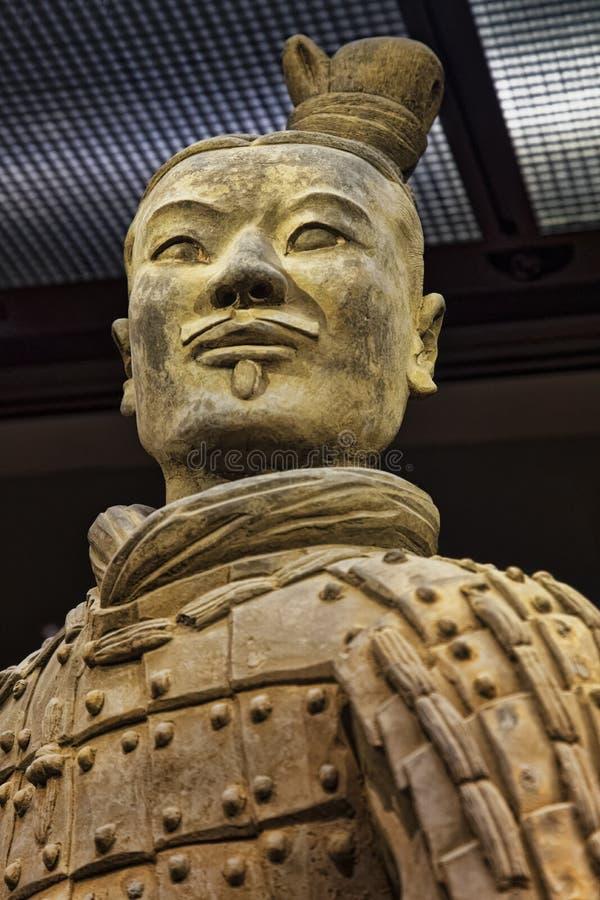 Archer inginocchiato dissotterrato in pozzo 2, esercito Xian China di terracotta immagine stock libera da diritti