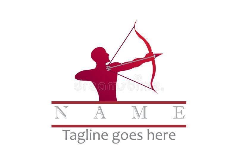 Archer logo stock illustration