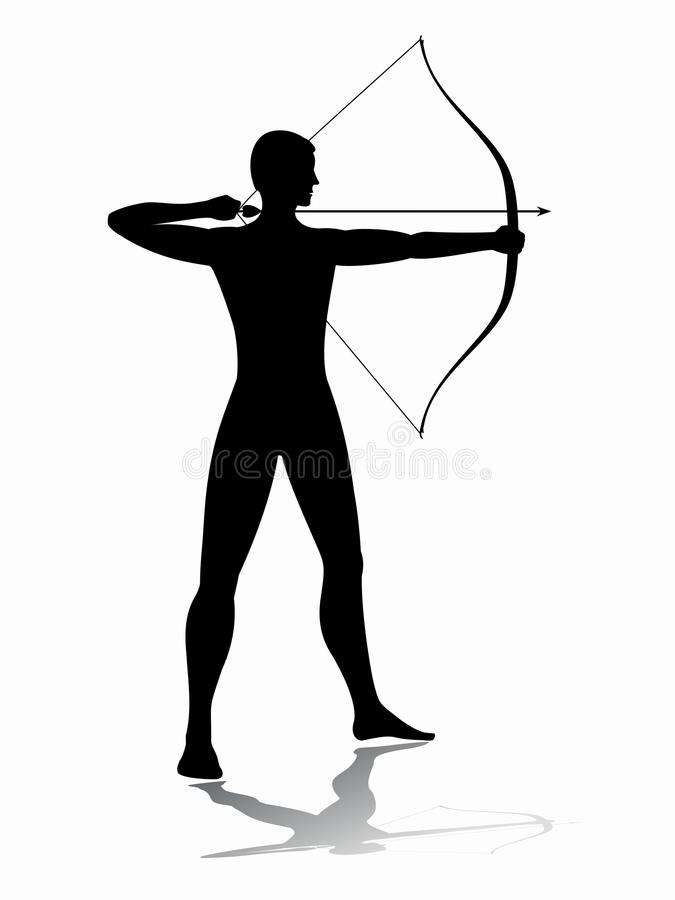 Free Archer Man, Vector Sketch Stock Photography - 82982722