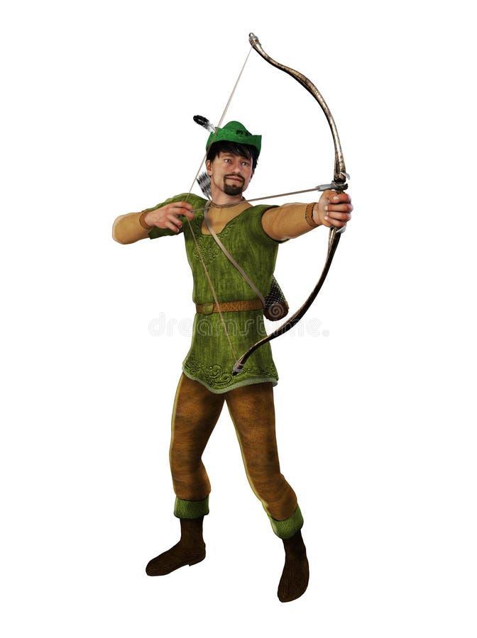 Archer Outlaw Robin Hood royalty-vrije illustratie