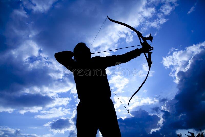 Archer Silhouettes immagini stock libere da diritti