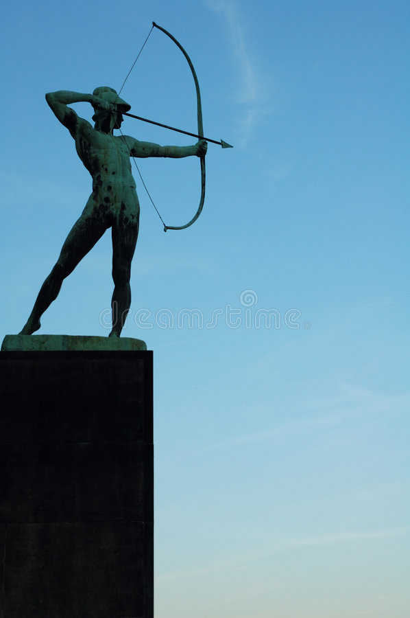 Archer statue stock photography