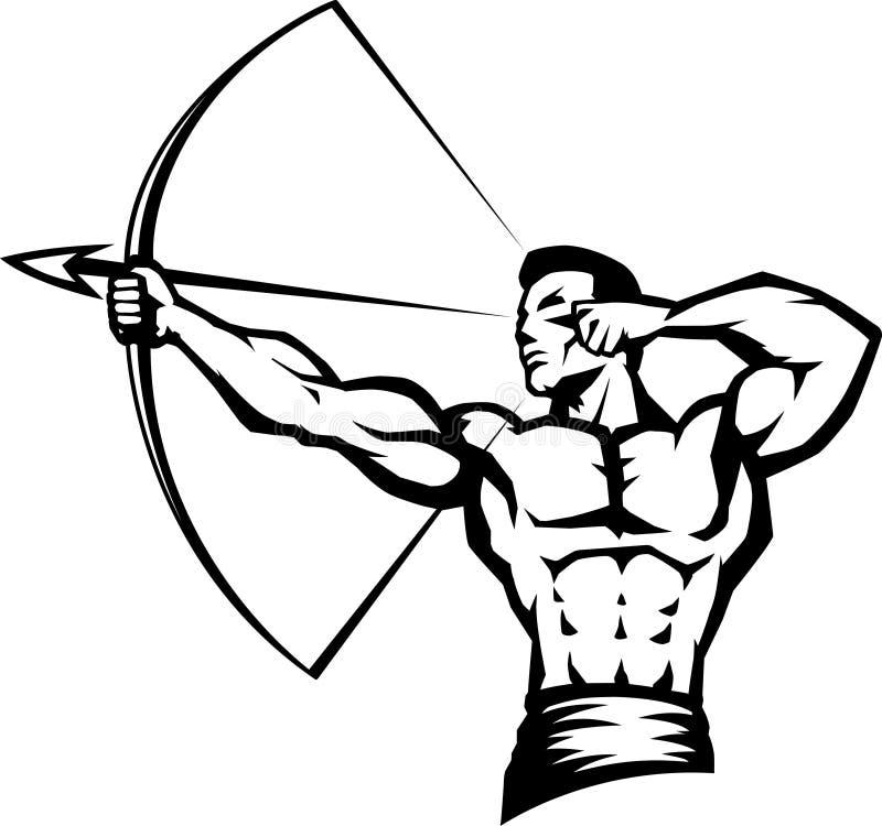 Archer stilizzato illustrazione di stock