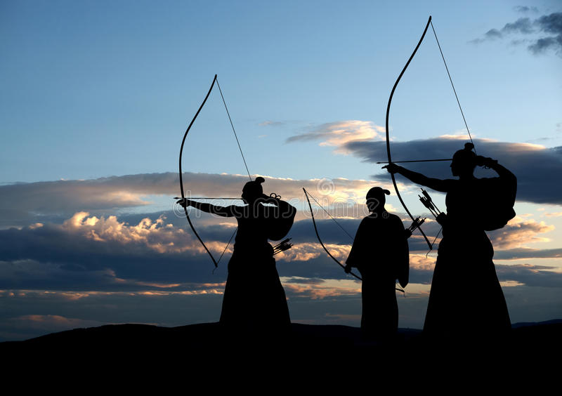 Archers royalty free stock images