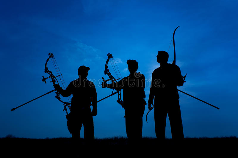 Download Archers stock image. Image of recurve, sport, silhouette - 19438431