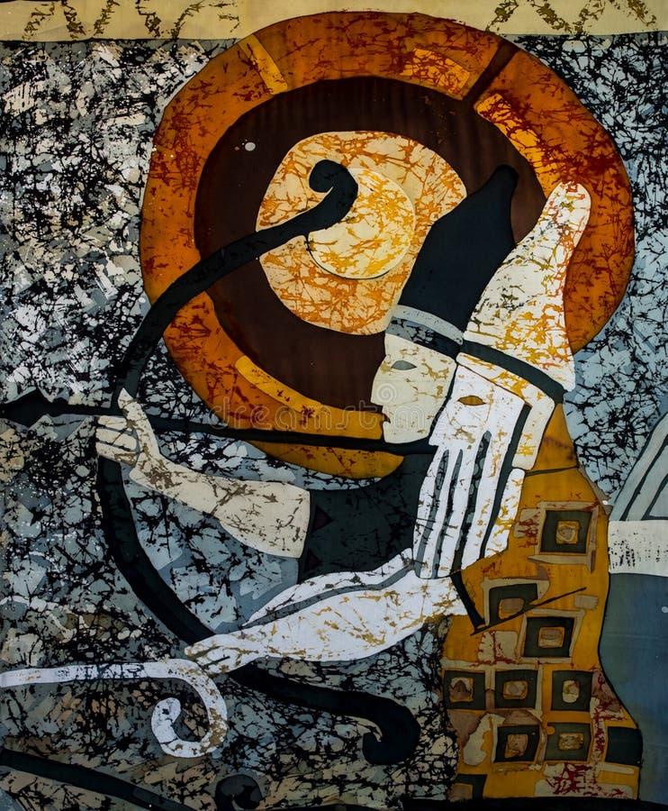 Archers dans le char, fragment, batik chaud, texture de fond photo libre de droits