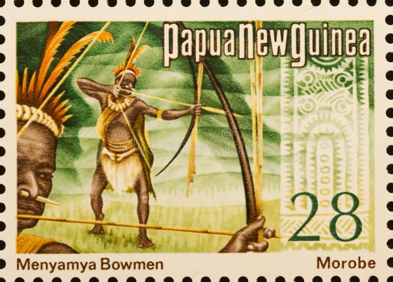 Archers de Menyamya de timbre de png photo stock