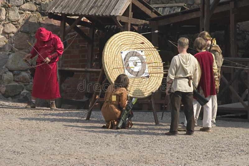 Archers de Trakai fotos de archivo