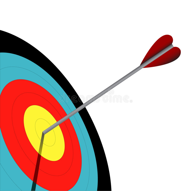 Download Archery stock vector. Illustration of mark, purpose, goal - 6843081