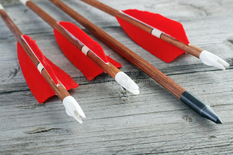 Archery arrows royalty free stock photography