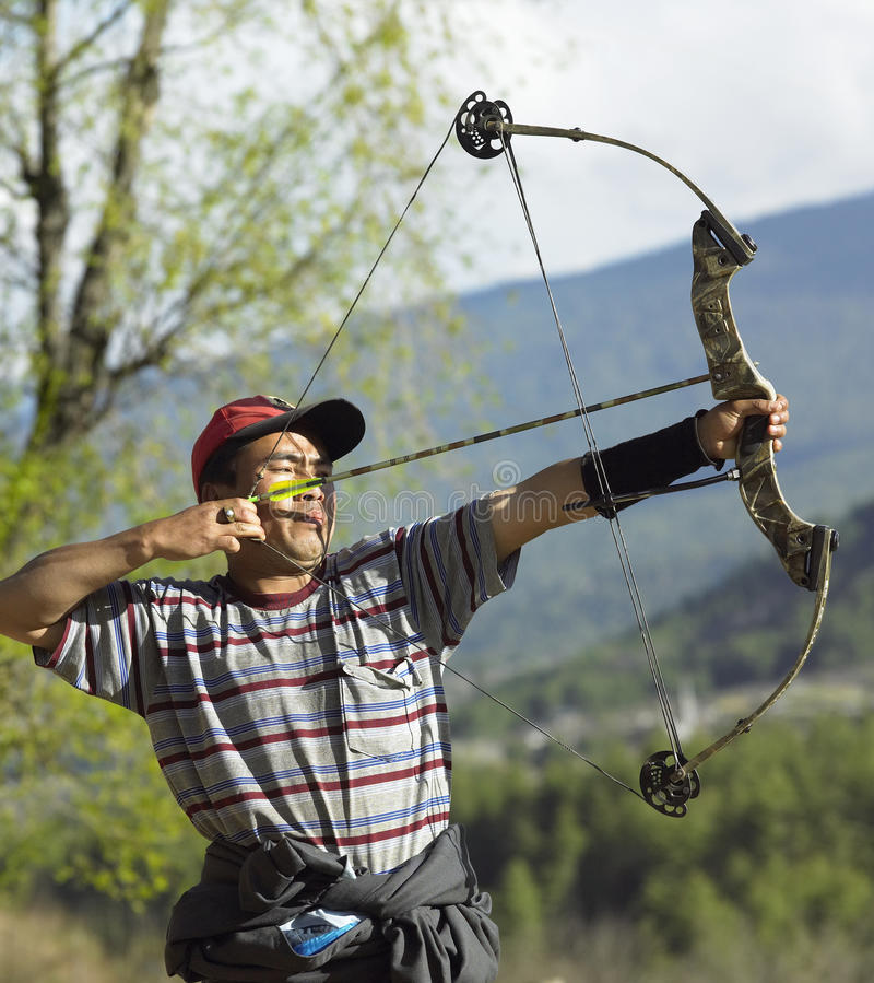 Archery in Bhutan royalty free stock photos