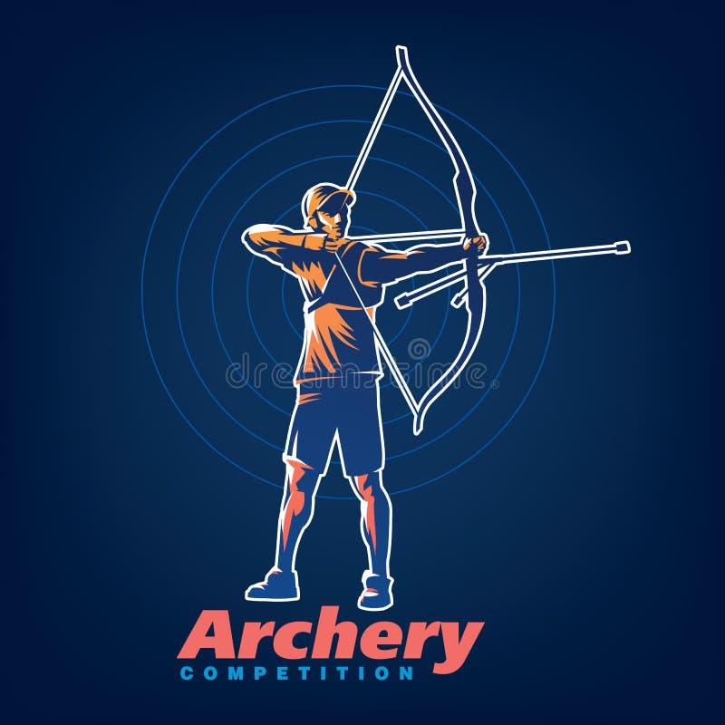 archery Emblème de sport illustration libre de droits