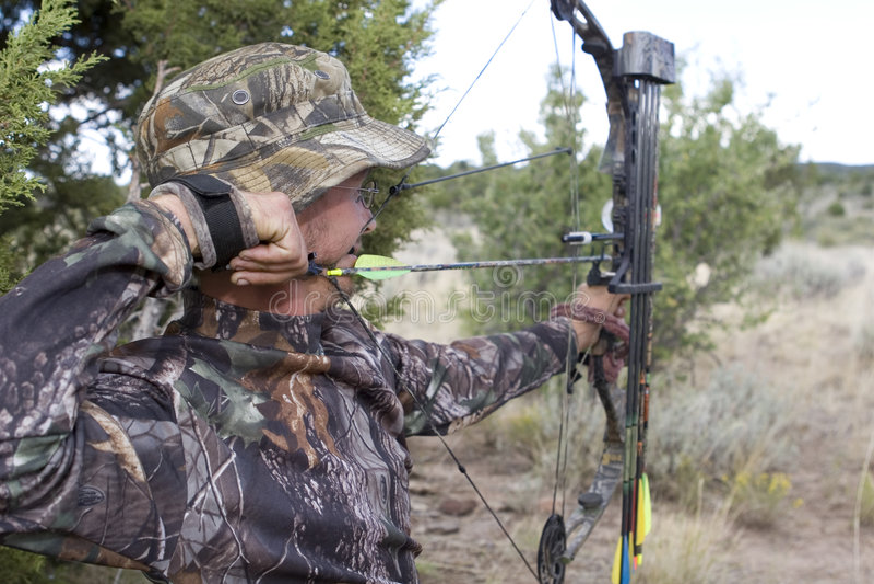 Archery hunter royalty free stock photos