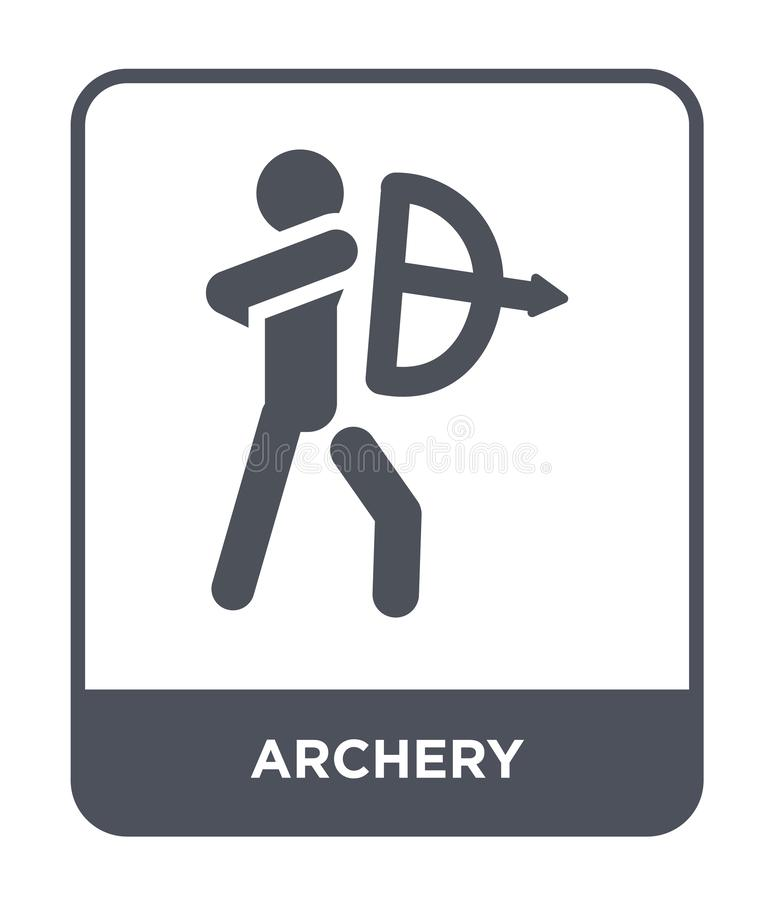 archery icon in trendy design style. archery icon isolated on white background. archery vector icon simple and modern flat symbol royalty free illustration