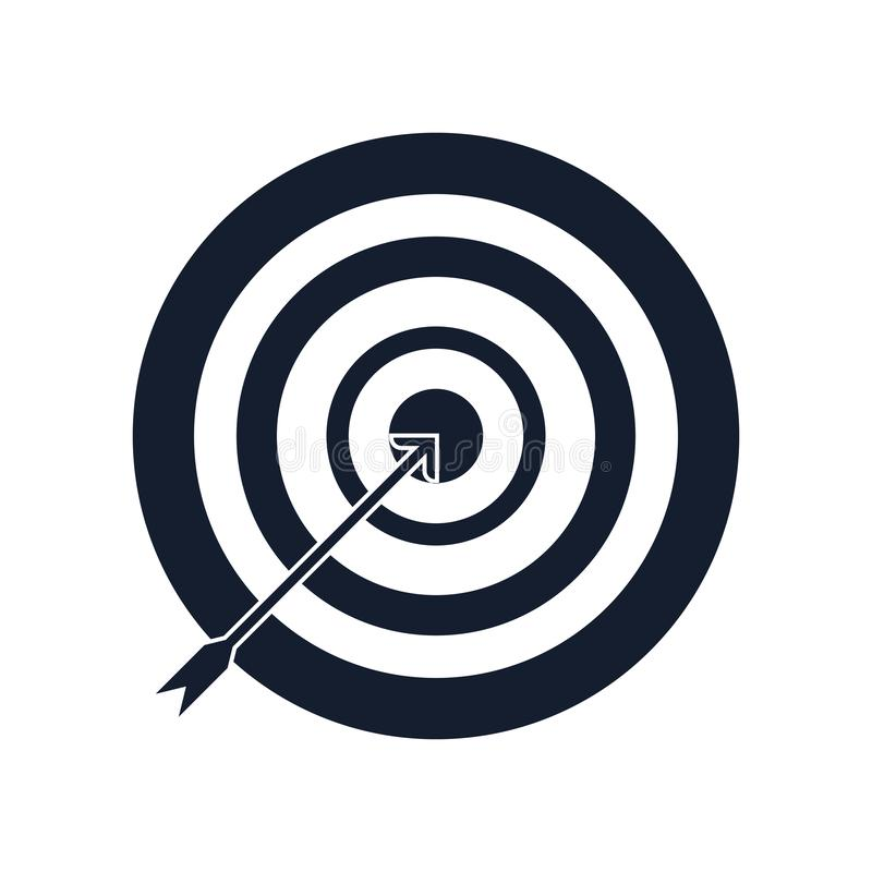 Archery icon vector sign and symbol isolated on white background, Archery logo concept royalty free illustration