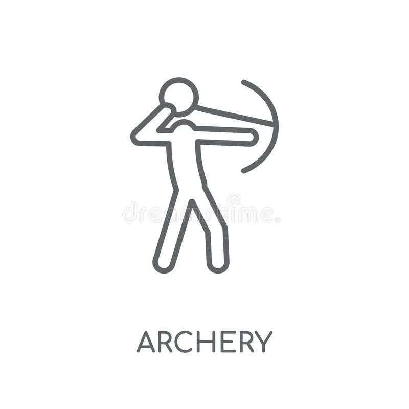 Archery linear icon. Modern outline Archery logo concept on whit royalty free illustration
