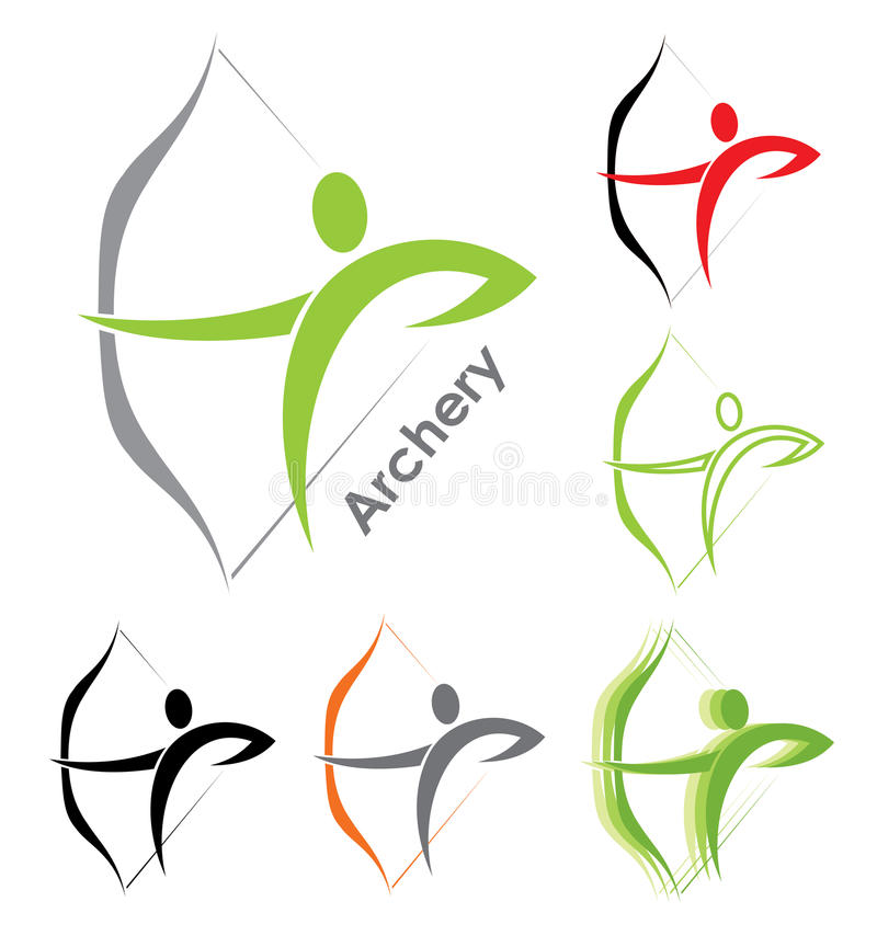 Download Archery symbols stock vector. Illustration of icon, recreation - 28240707