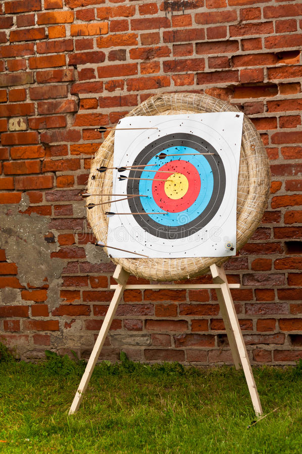 Download Archery target with arrows stock photo. Image of arrow - 23583096