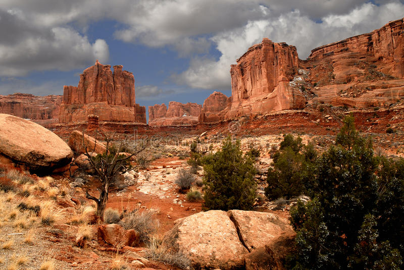 Download Arches stock photo. Image of national, trees, snow, utah - 18955304