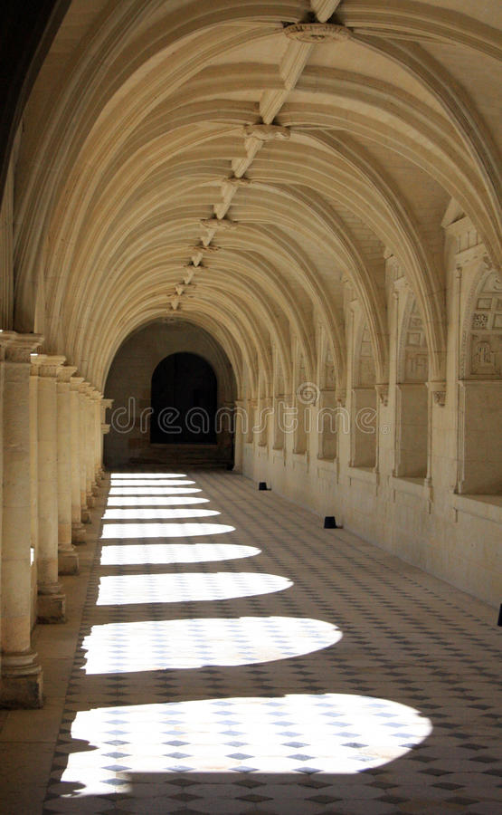 Arches in Fontevraud Abbey