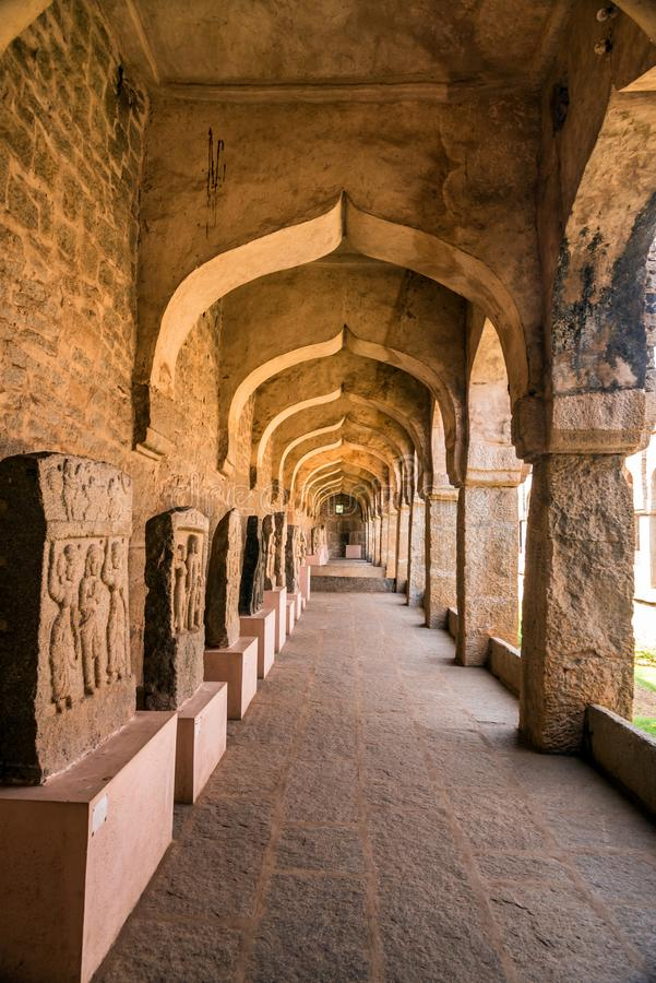 Arches of Hampi museum royalty free stock photos