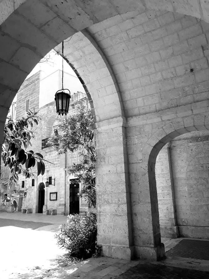 Arches in Mellieha- Malta stock photos
