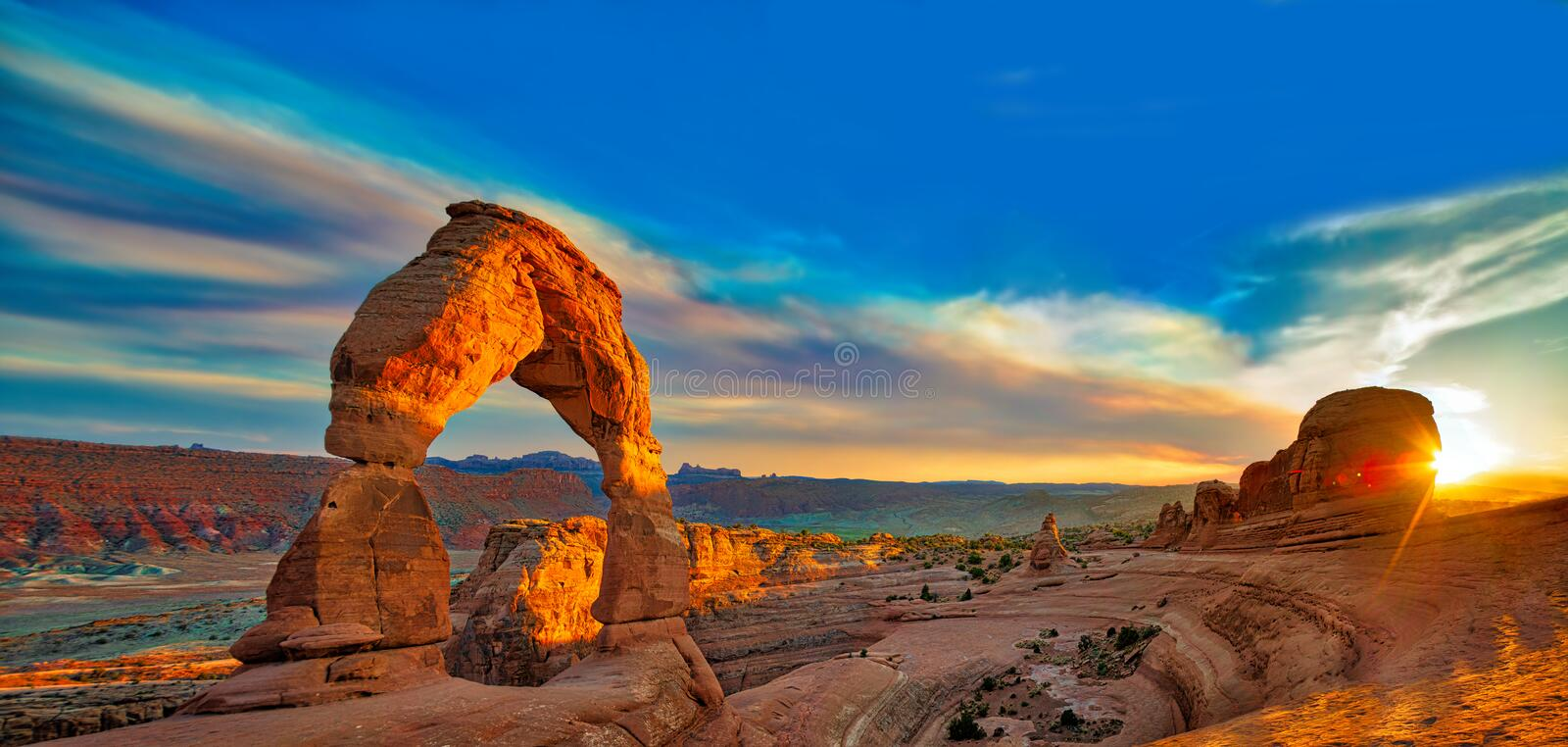 Arches Panorama royalty free stock image