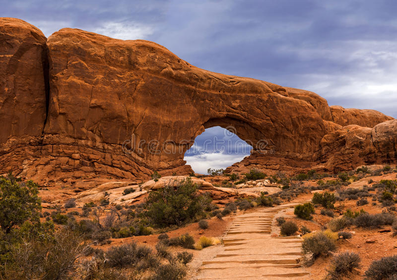 Arches National Park, North Window, Utah stock image