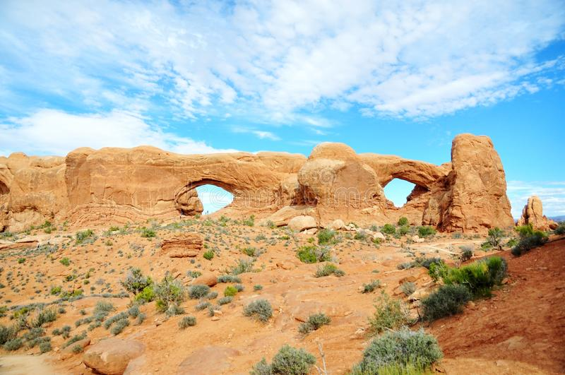 Arches National Park. This is picture was taken in Arches National Park, Utah royalty free stock photos