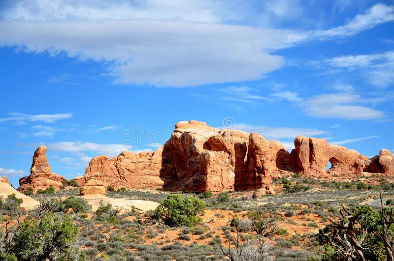 Arches National Park. This is picture was taken in Arches National Park, Utah stock images
