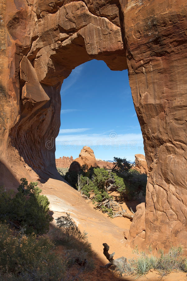 Arches National Park, USA. Variety of geological formations in Arches National Park, Utah, USA stock photo