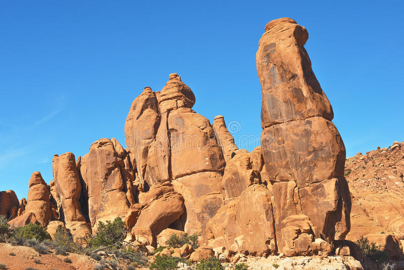 Arches National Park, USA. Variety of geological formations in Arches National Park, Utah, USA stock image