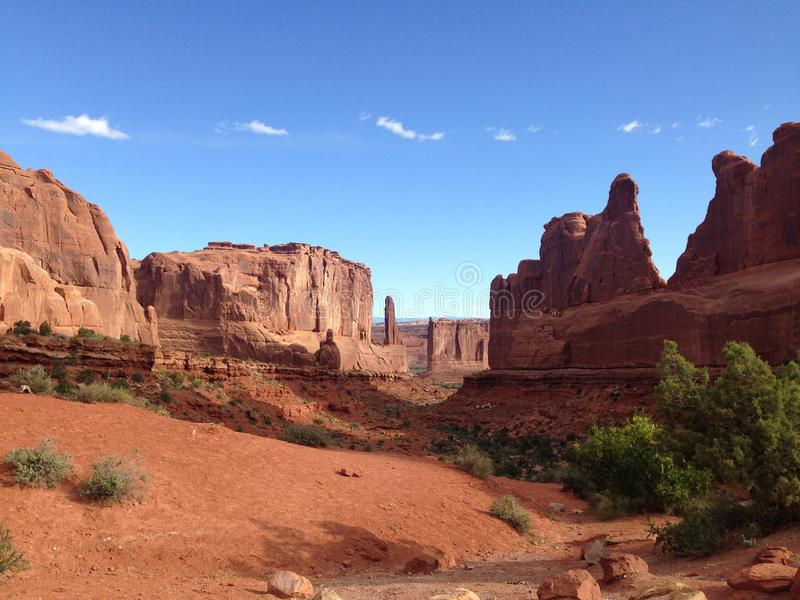 Arches Park Avenue Viewpoint stock photography