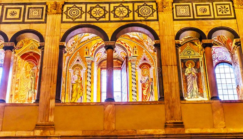 Arches Peter Paul Mosaic Bapistry Saint John Florence Italy stock photography