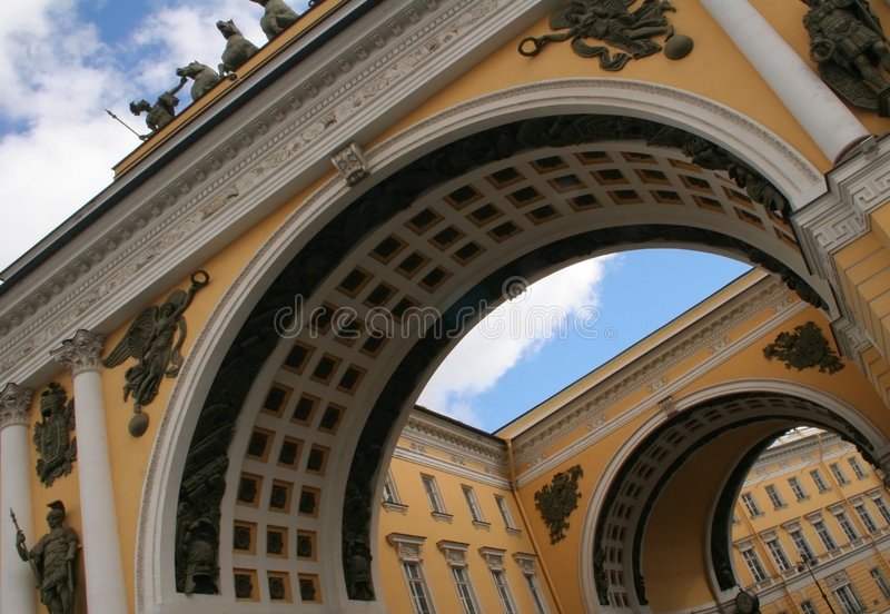 Arches of Petersburg stock photos