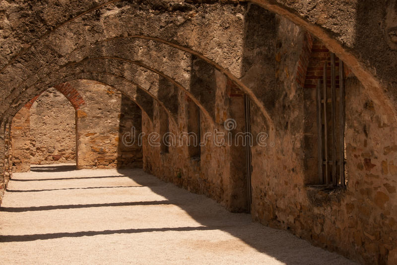 Arches in San Jose Mission royalty free stock image
