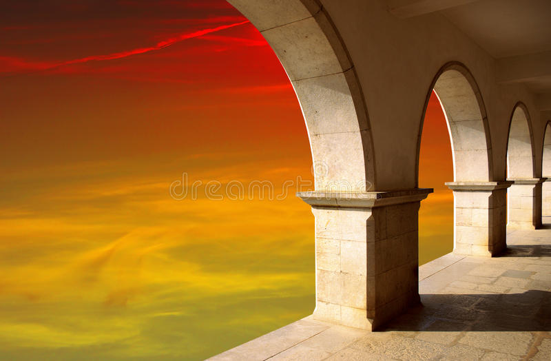 Download Arches at Sunset stock photo. Image of classic, orange - 11920754
